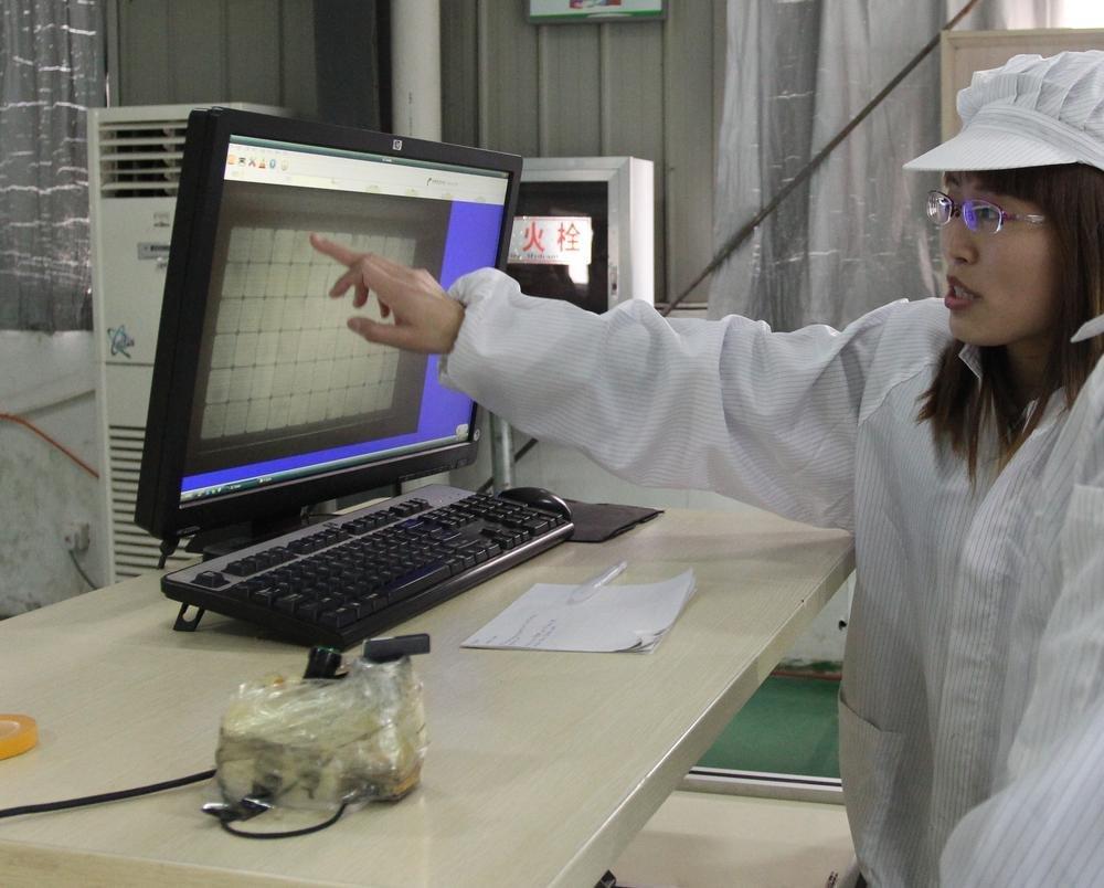 Результат теста на электролюминесценцию