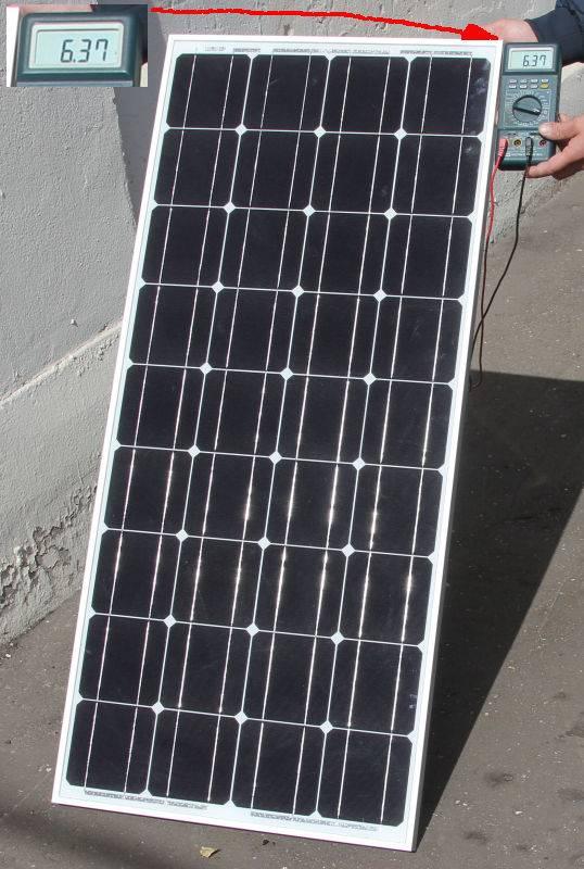 Измерение тока короткого замыкания солнечной батареи 100 Вт