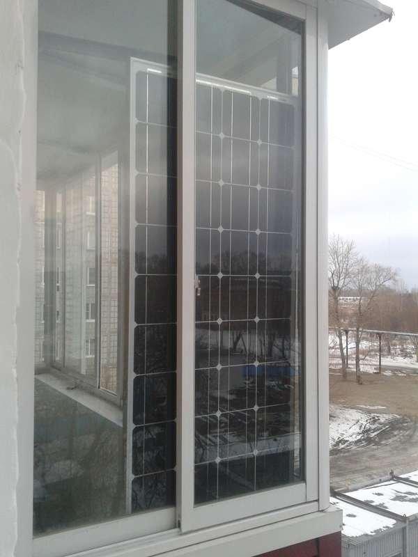 Установка солнечной батареи на балконе квартиры