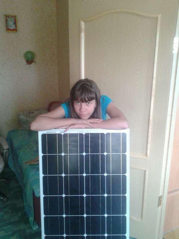 Солнечная панель на балконе..