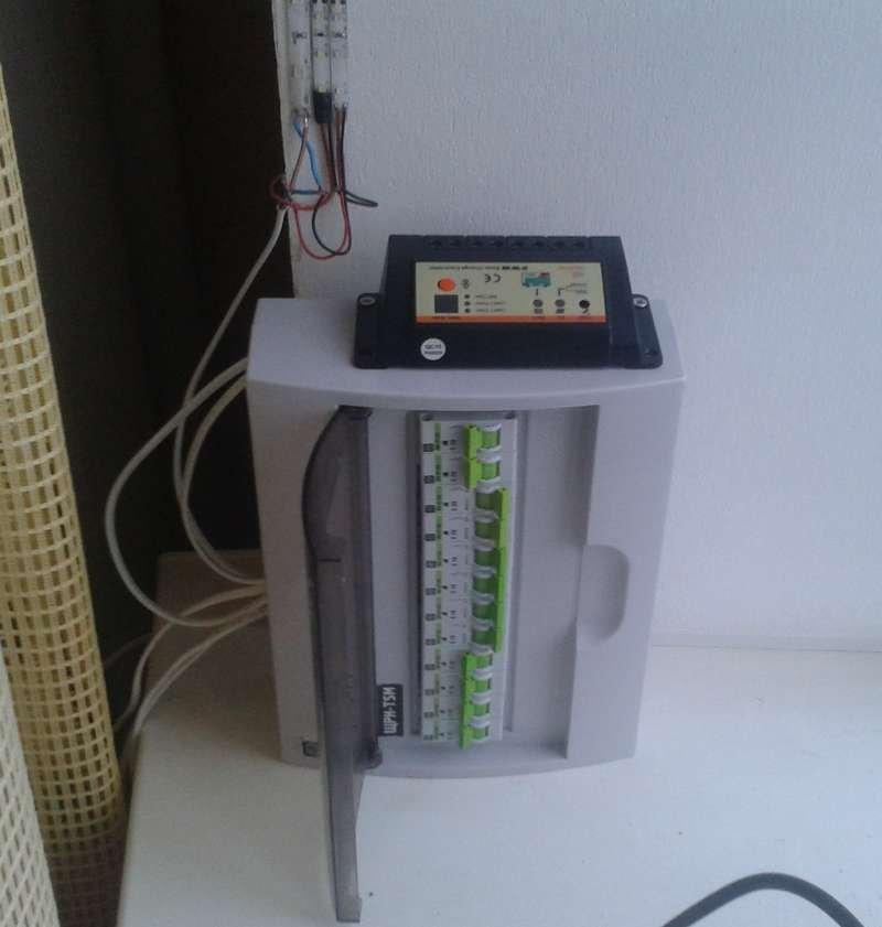 Электрощит с контроллером заряда LS1024RD