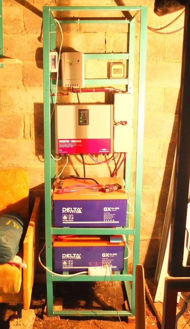 Стойка со смонтированной солнечной электростанцией SA-2500