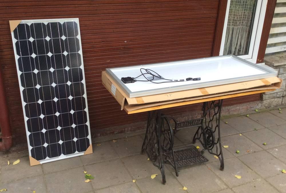 Распаковка солнечных панелей CHN90-36M