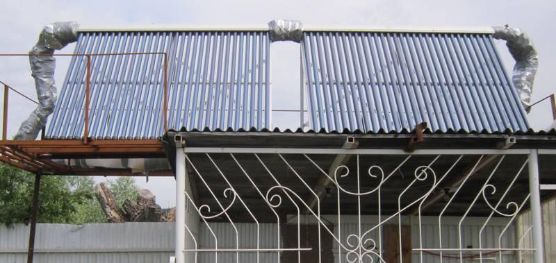 Система отопления дома на солнечных коллекторах