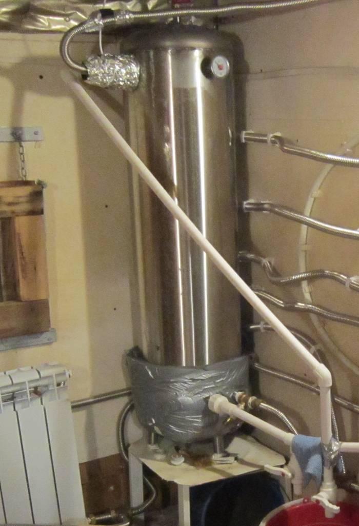 Двухконтурный бойлер на 150 литров в бане