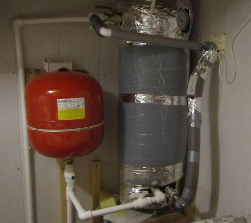 Двухконтурный бойлер на 150 литров в доме