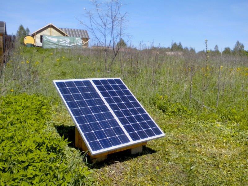 Солнечная электростанция для насоса