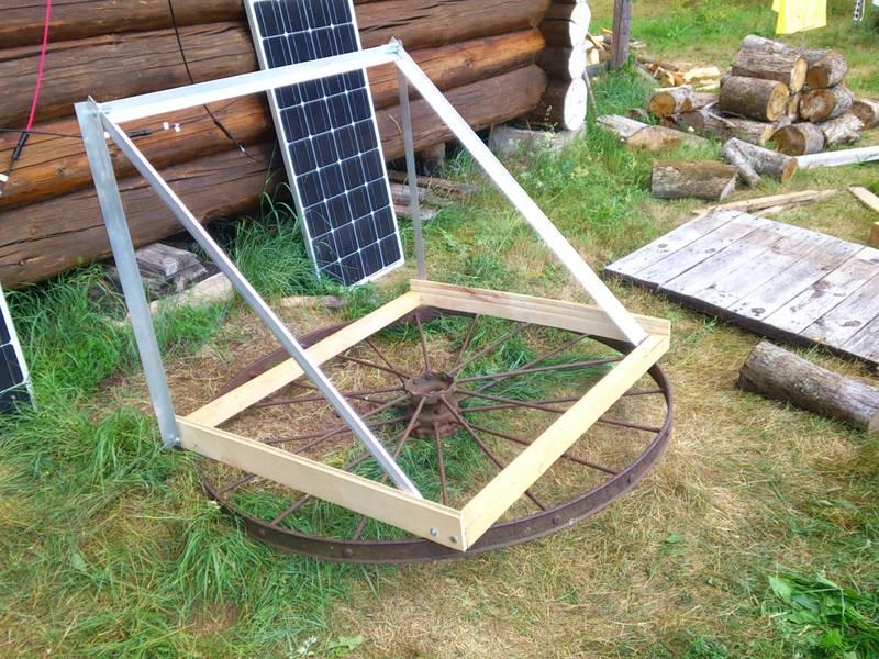 Поворотное основание для солнечных батарей готово
