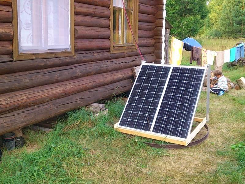 ... в действии (солнечные батареи повернуты вечером на запад)