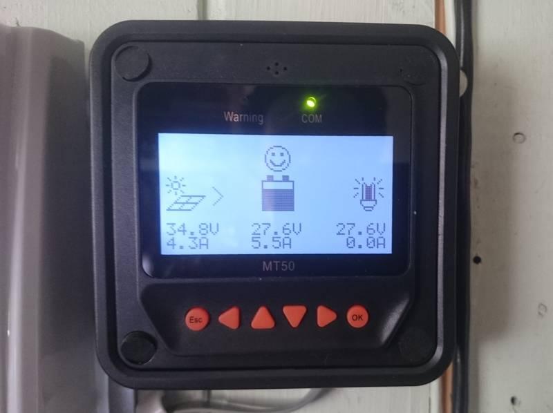 Индикация выносной панели контроллера МТ-50
