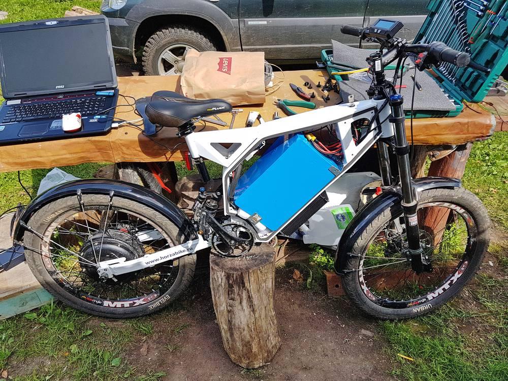 Электровелосипед на солнечной энергии :-)