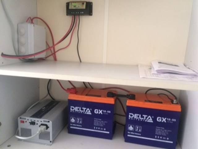 Установленный комплект солнечной электростанции SR-800