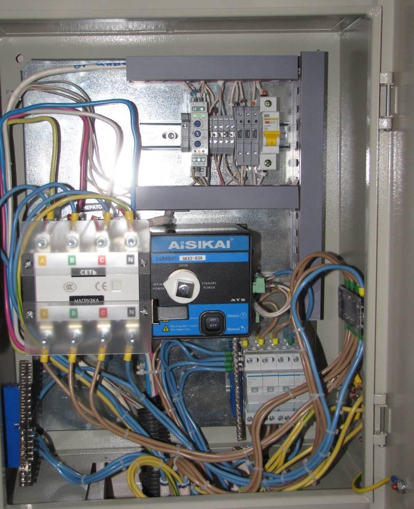 Электрический щиток с автоматикой генератора и байпасом